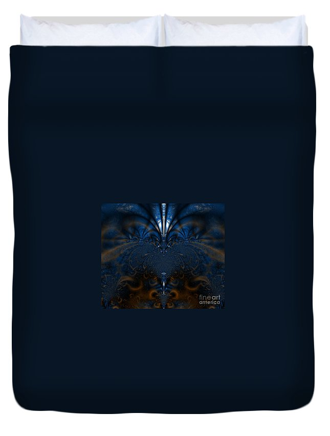 Fractal Duvet Cover featuring the photograph 201 by Keri West