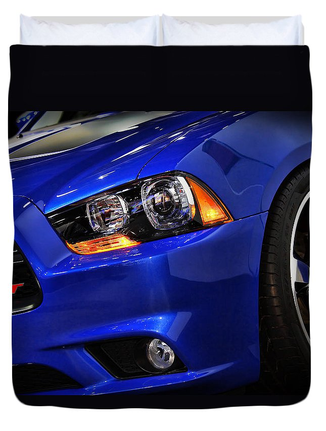 2012 Duvet Cover featuring the photograph 2013 Dodge Charger Daytona by Gordon Dean II