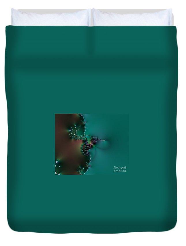 Fractals Duvet Cover featuring the digital art 203 by Keri West