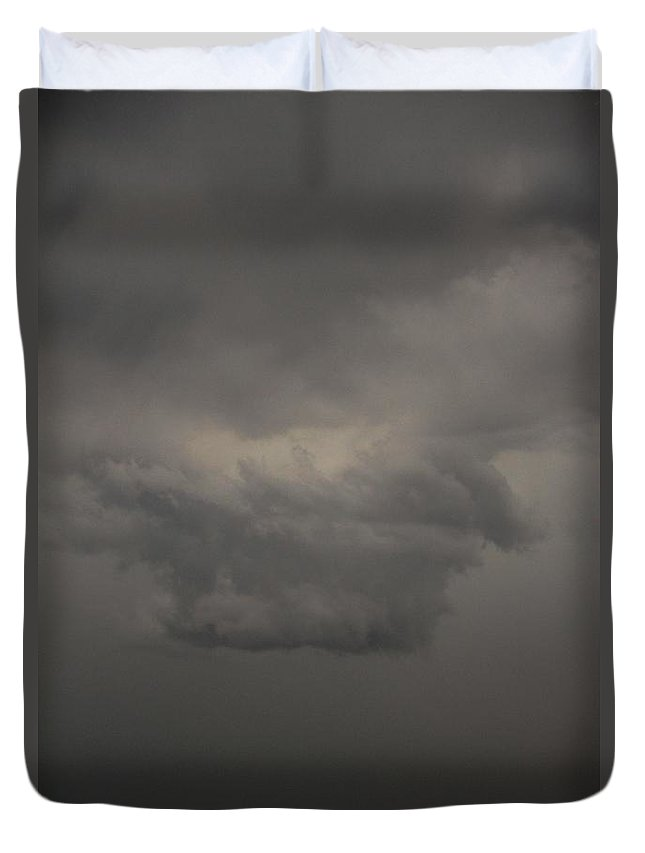Stormscape Duvet Cover featuring the photograph Let The Storm Season Begin 11 by NebraskaSC