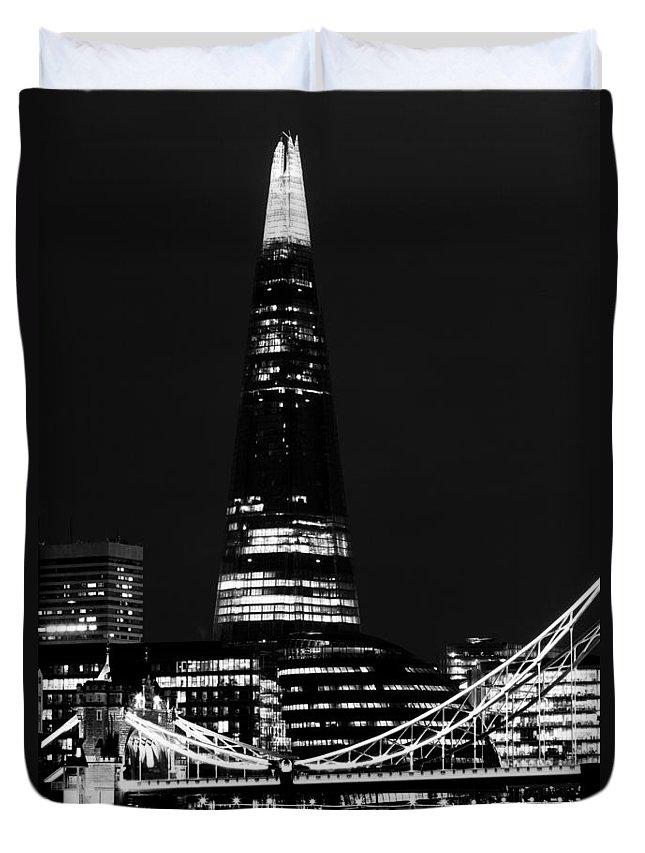 Shard Duvet Cover featuring the photograph The Shard by David Pyatt