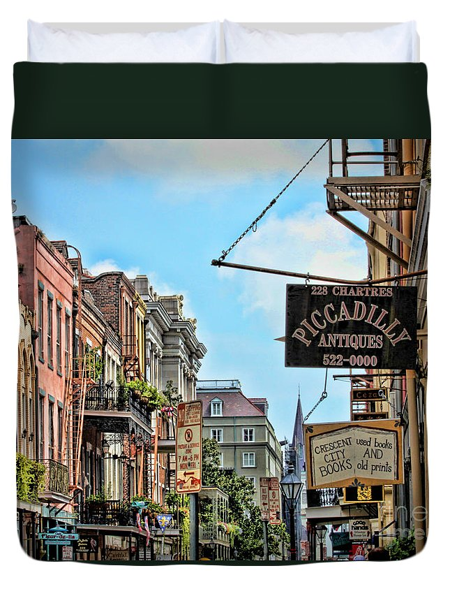 New Orleans Duvet Cover featuring the photograph 228 Charters New Orleans by TN Fairey