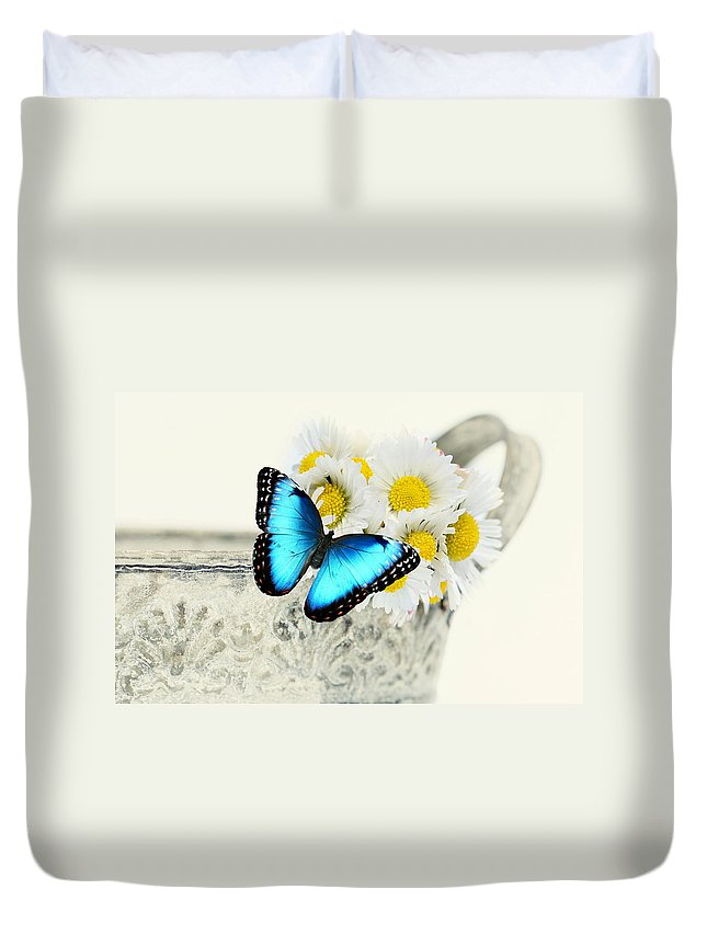Butterfly Duvet Cover featuring the photograph Butterfly by Heike Hultsch