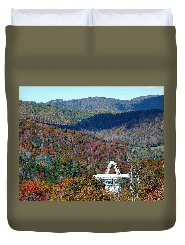 Duane Mccullough Duvet Cover featuring the photograph 26 West Antenna And The Blueridge by Duane McCullough