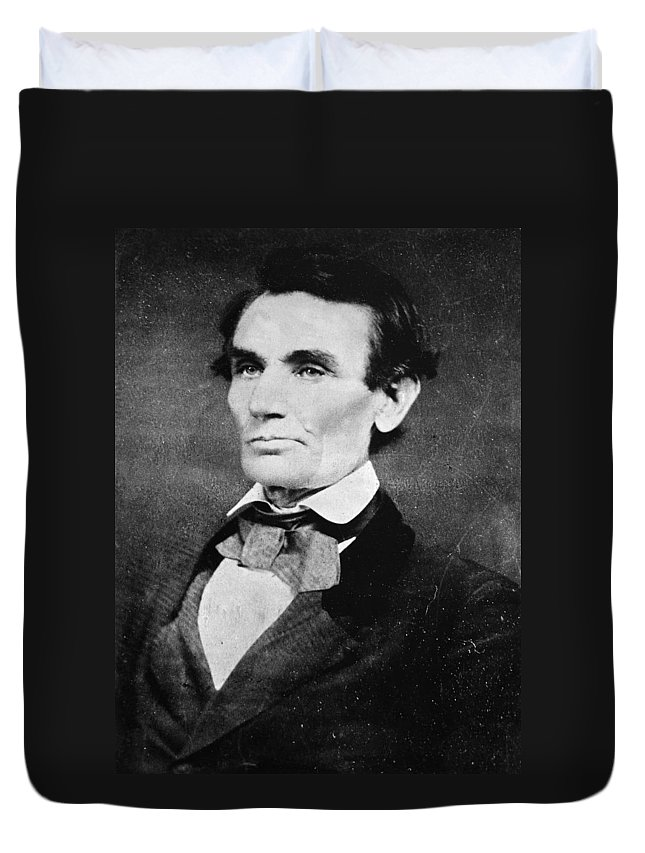 1858 Duvet Cover featuring the photograph Abraham Lincoln (1809-1865) by Granger