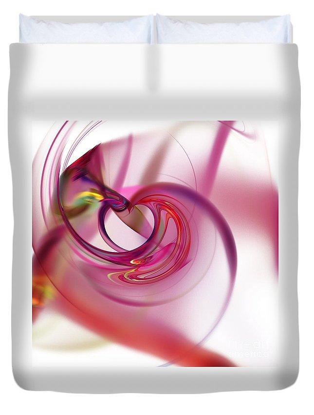 Background Duvet Cover featuring the digital art Fractal by Henrik Lehnerer