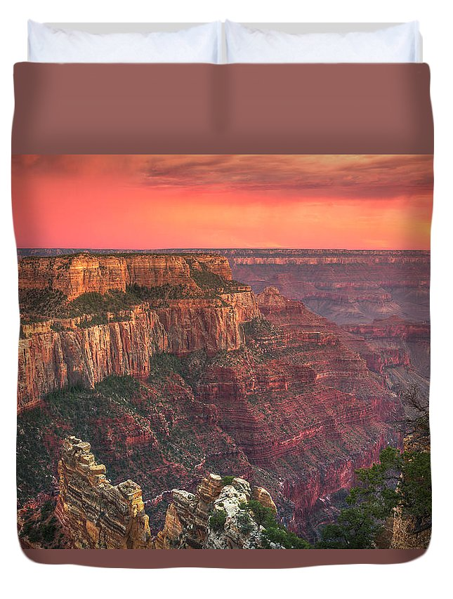 Tranquility Duvet Cover featuring the photograph Grand Canyon National Park by Michele Falzone