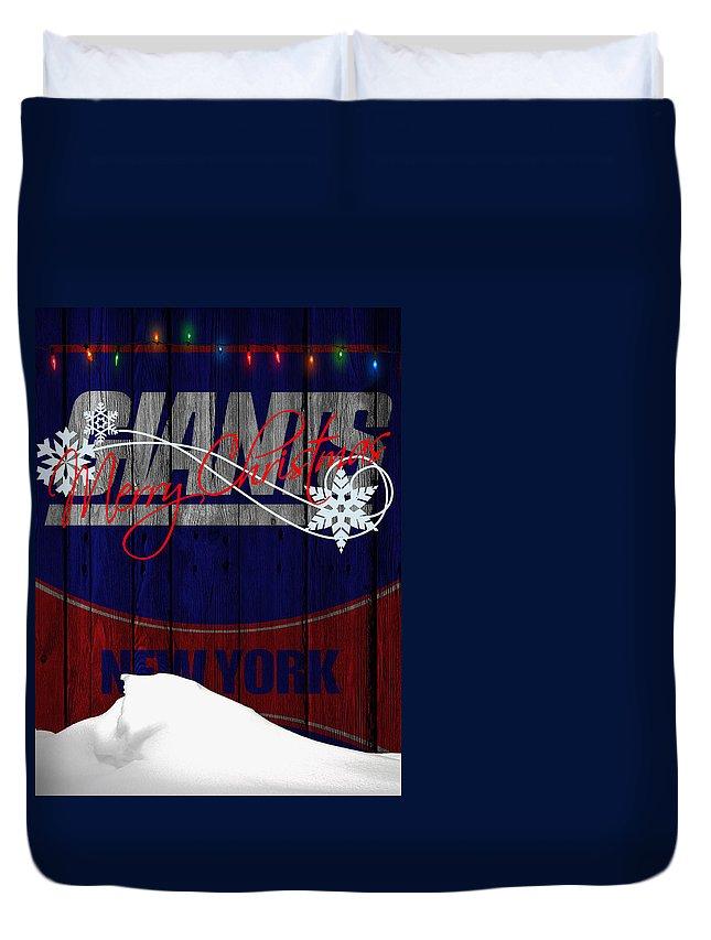 Giants Duvet Cover featuring the photograph New York Giants by Joe Hamilton