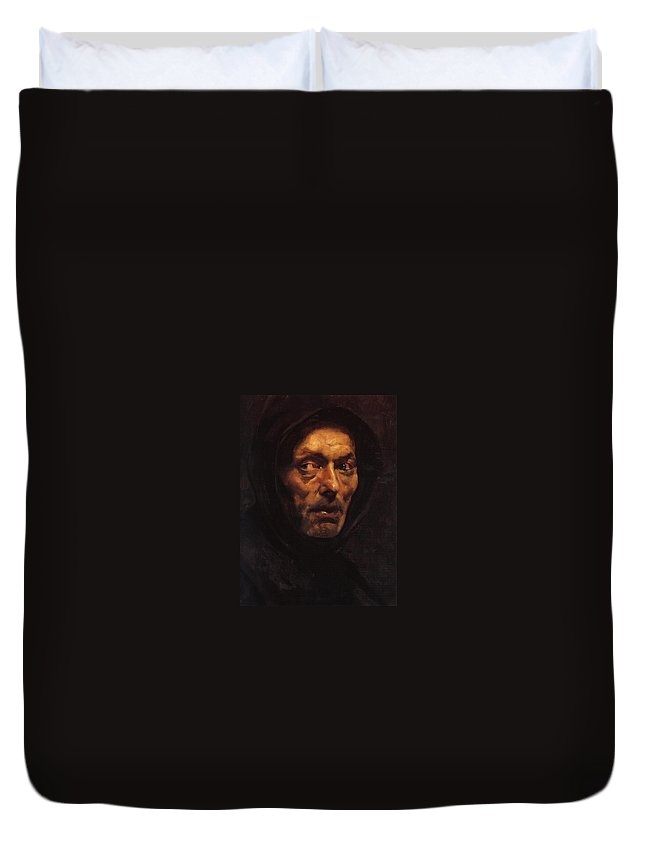Noli Me Tangere Duvet Cover featuring the painting Noli Me Tangere by MotionAge Designs