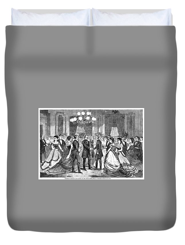 1868 Duvet Cover featuring the painting Andrew Johnson (1808-1875) by Granger