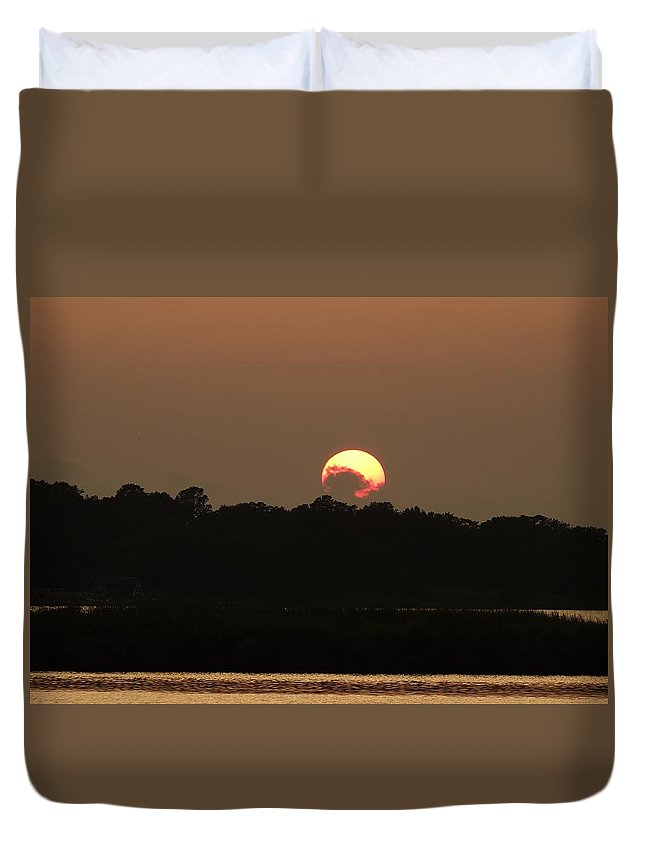 Obx Duvet Cover featuring the photograph Outer Banks North Carolina Sunset by Richard Rosenshein