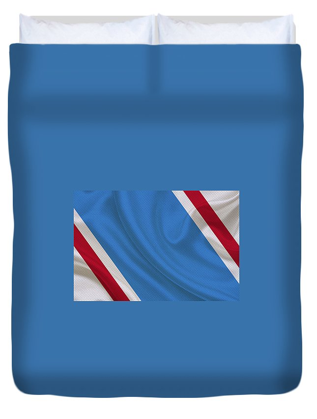 Oilers Duvet Cover featuring the photograph Houston Oilers by Joe Hamilton