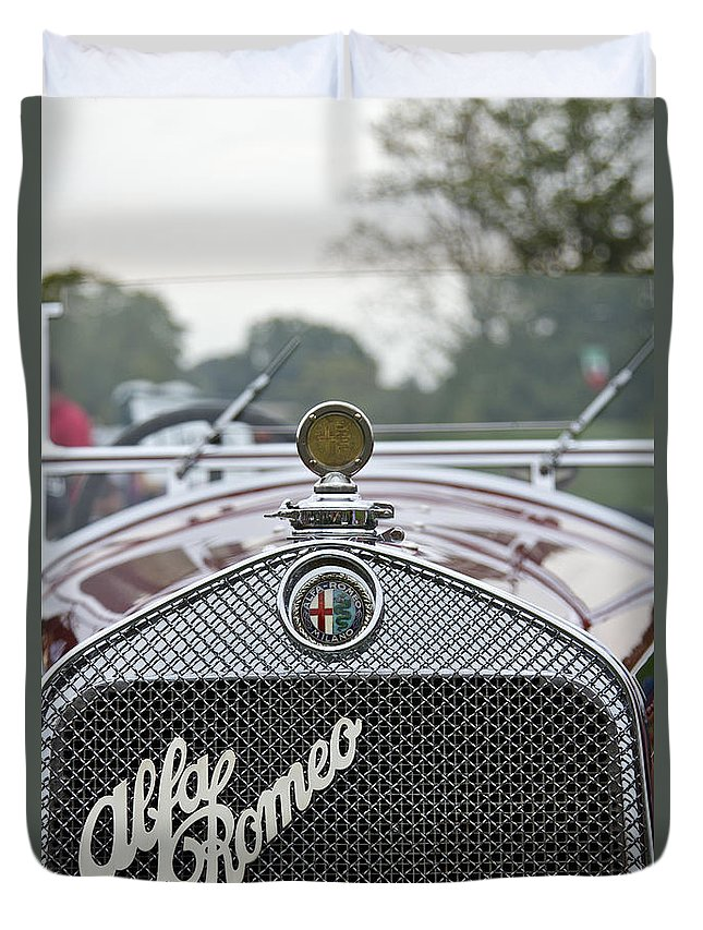 Antique Duvet Cover featuring the photograph 1931 Alfa Romeo by Jack R Perry