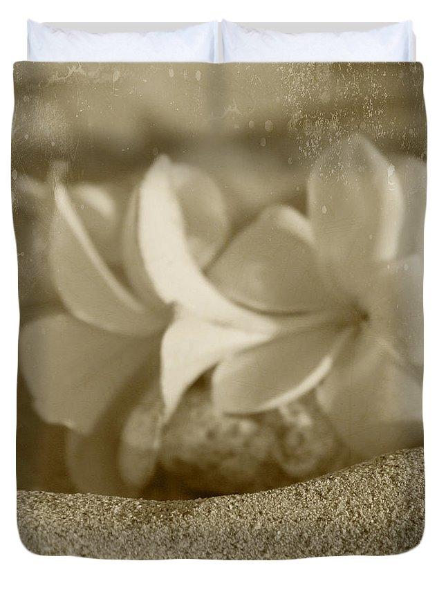 Aloha Duvet Cover featuring the photograph Aloha'lani Pua Melia Lei Manakai by Sharon Mau