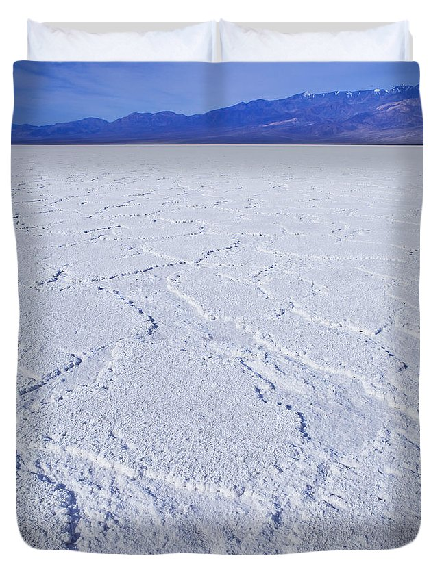 Badwater Duvet Cover featuring the photograph Badwater - Death Valley by B Christopher