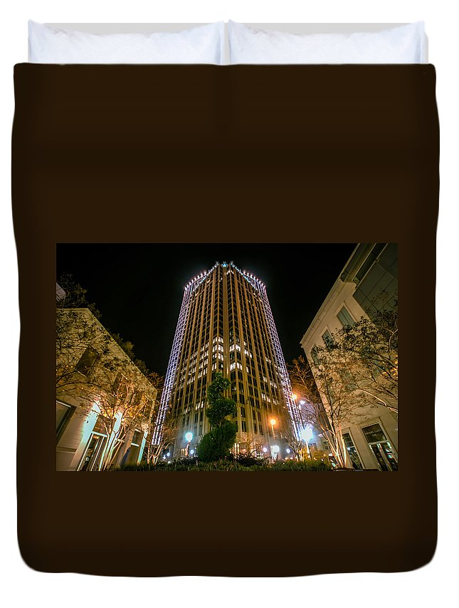 North Duvet Cover featuring the photograph Charlotte North Carolina by Alex Grichenko