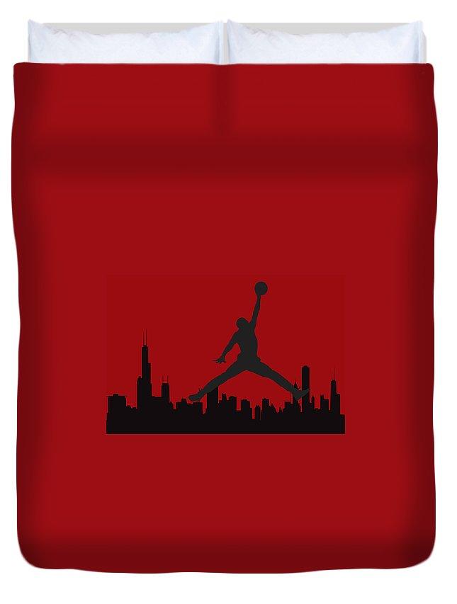 Michael Jordon Duvet Cover featuring the photograph Chicago Bulls by Joe Hamilton