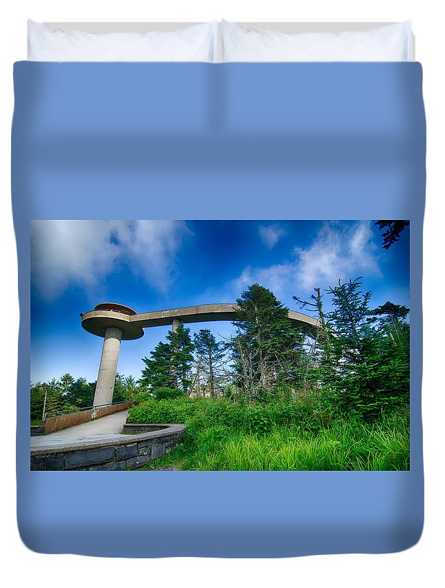 Clingman's Dome Duvet Cover featuring the photograph Clingmans Dome - Great Smoky Mountains National Park by Alex Grichenko