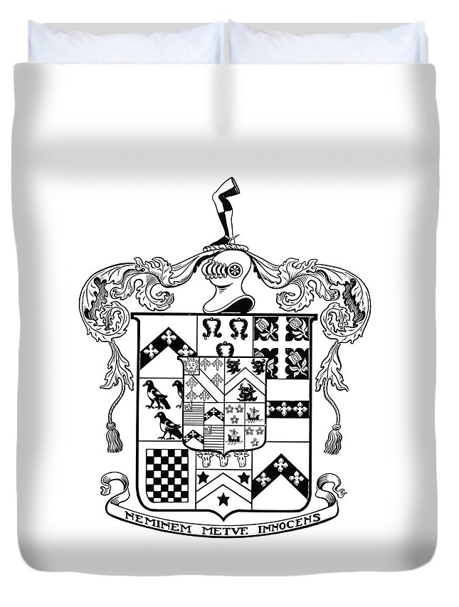 Coat Of Arms Duvet Cover featuring the painting Coat Of Arms by Granger