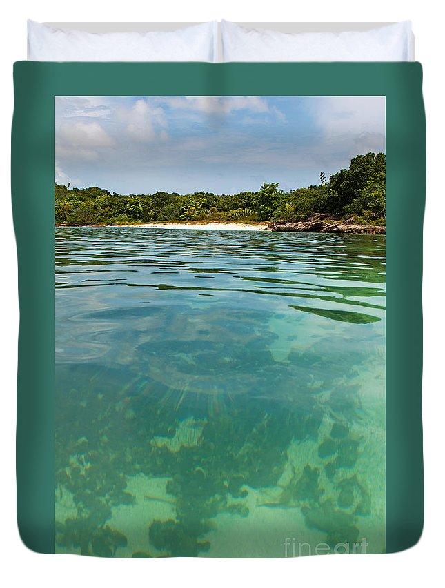 Beach Duvet Cover featuring the photograph Deserted Beach by Luis Alvarenga