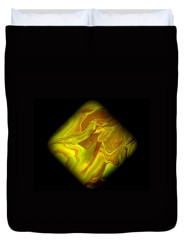 Symmetrical Duvet Cover featuring the painting Diamond 102 by J D Owen
