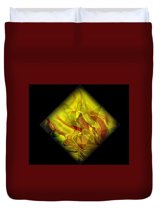 Symmetrical Duvet Cover featuring the painting Diamond 105 by J D Owen