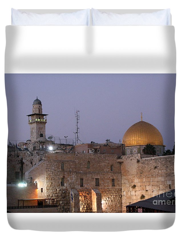Al Aqsa Mosque Duvet Cover featuring the photograph Dome by Doc Braham