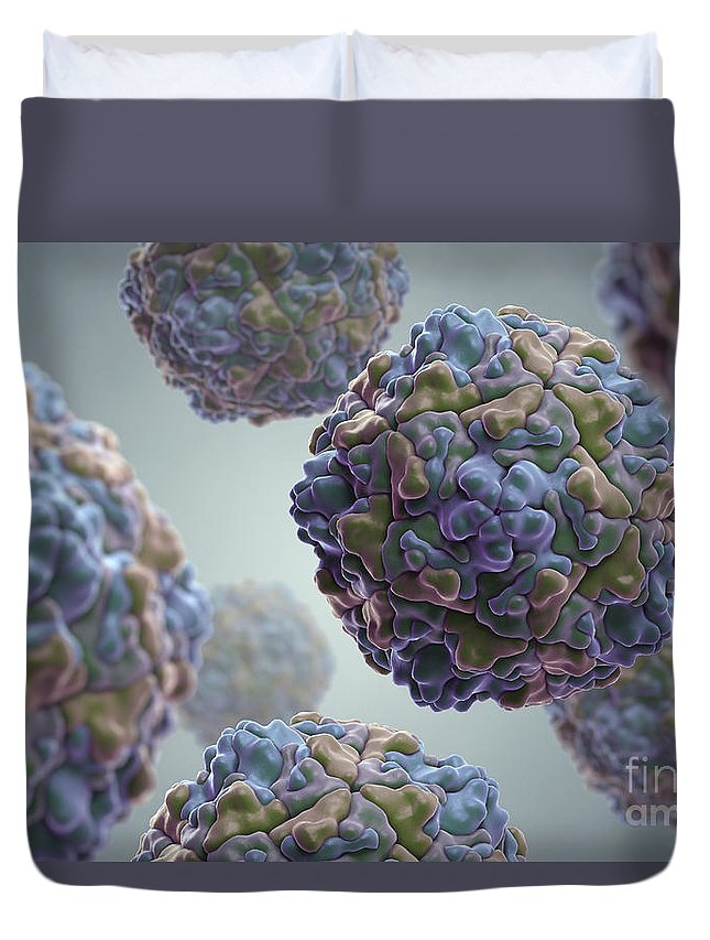 Sick Duvet Cover featuring the photograph Echo Virus by Science Picture Co