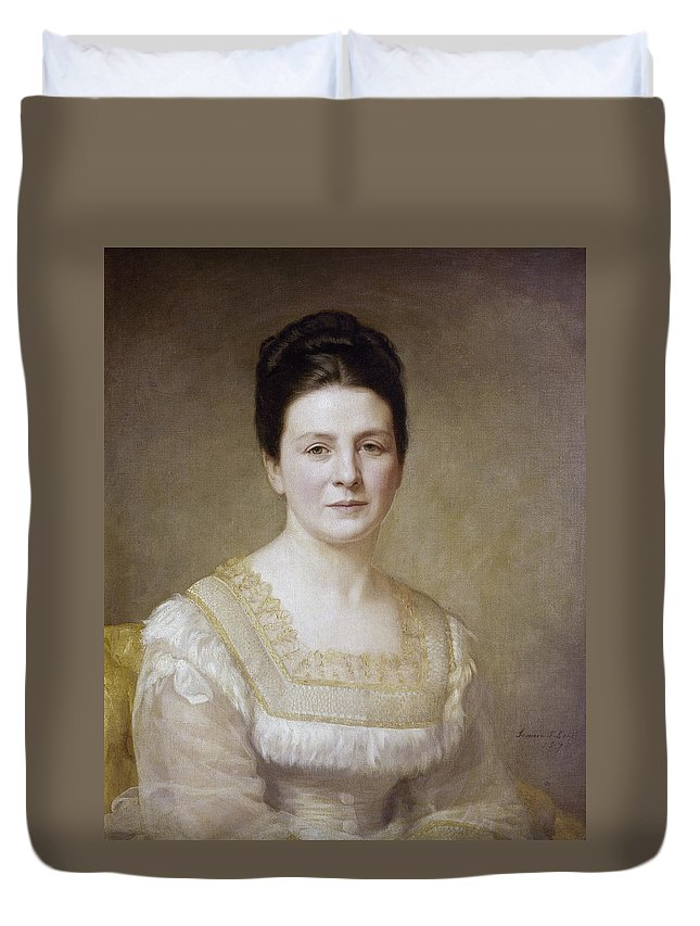 1880 Duvet Cover featuring the painting Edith K by Granger