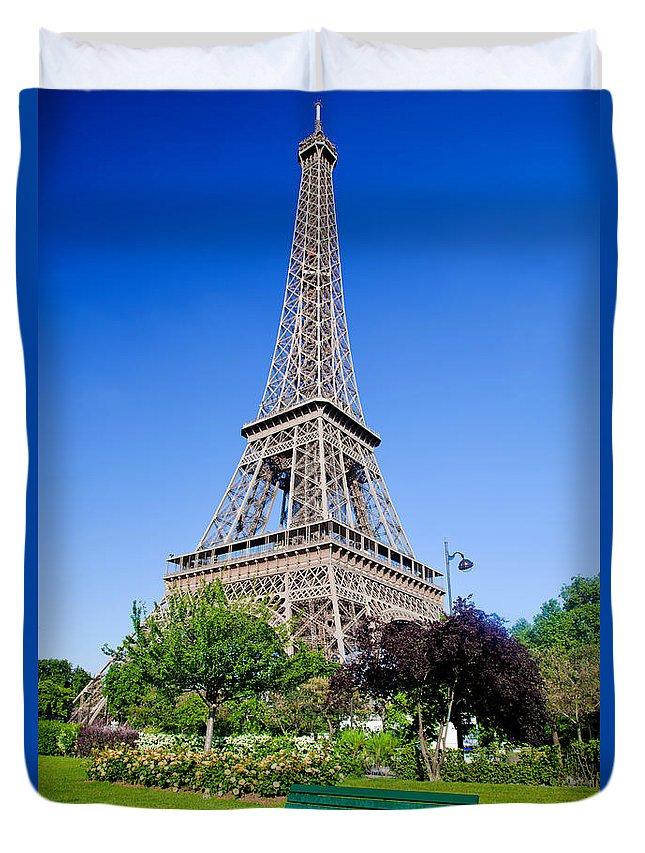 Eiffel Duvet Cover featuring the photograph Eiffel Tower by Michal Bednarek