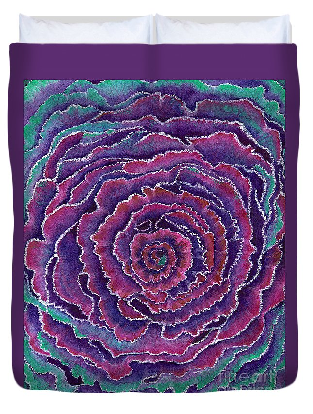 Abstract Paintings Duvet Cover featuring the painting Eye Of The Storm by Nan Wright