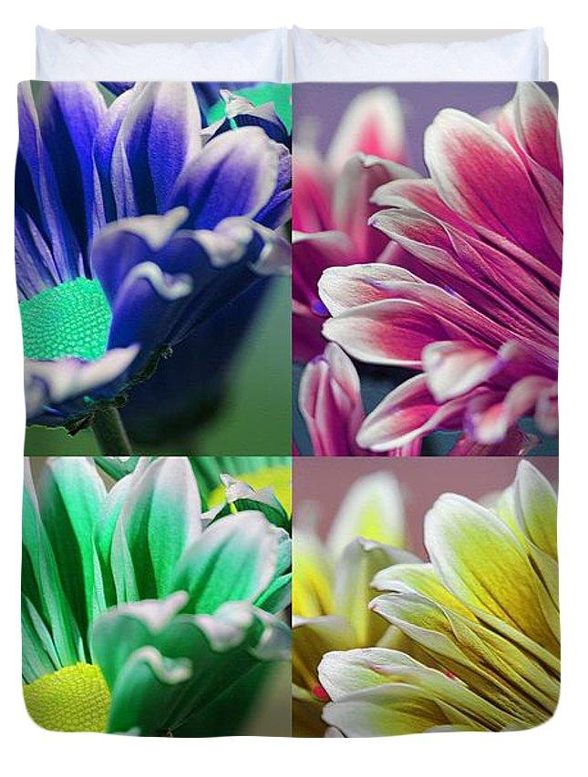 Mccombie Duvet Cover featuring the photograph Firmenish Bicolor Pop Art Shades by J McCombie