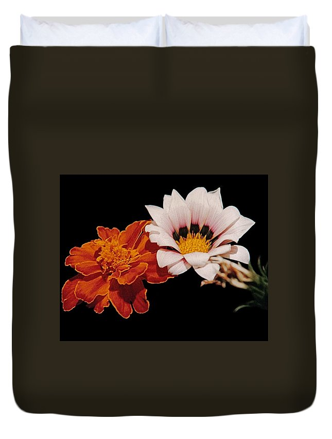 Original Duvet Cover featuring the photograph Flowers by J D Owen