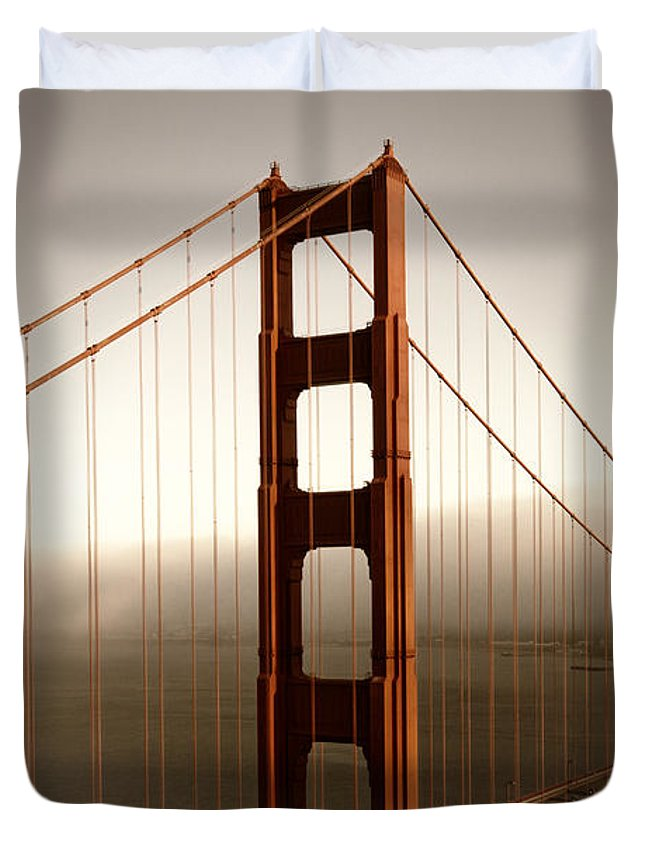 America Duvet Cover featuring the photograph Lovely Golden Gate Bridge by Melanie Viola