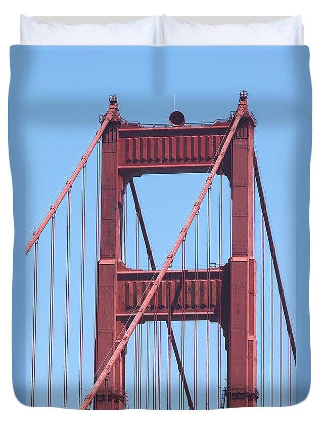 san Francisco Duvet Cover featuring the photograph Golden Gate by Henrik Lehnerer