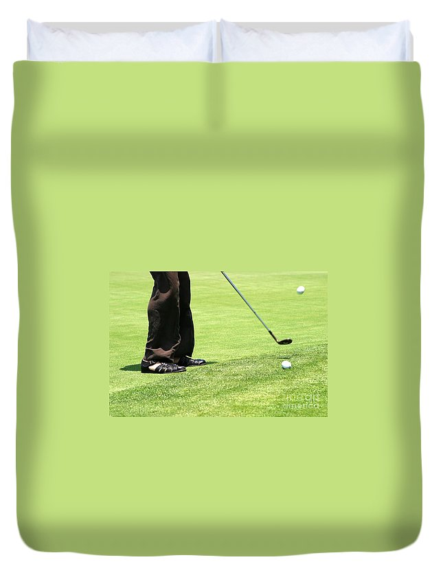 Activity Duvet Cover featuring the photograph Golf by Henrik Lehnerer