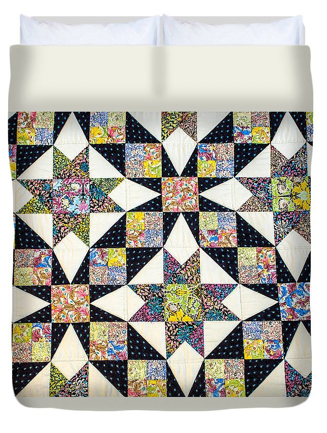 Quilt Duvet Cover featuring the photograph Hand Made Quilt by Sherman Perry