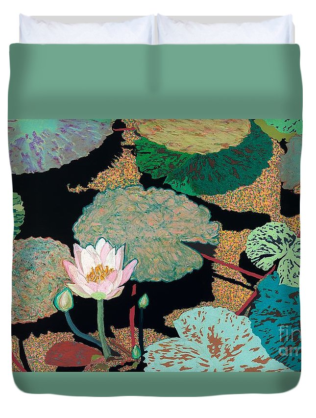 Landscape Duvet Cover featuring the painting Hot And Humid by Allan P Friedlander