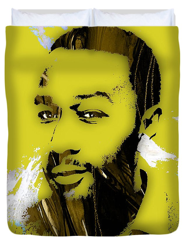 John Legend Duvet Cover featuring the mixed media John Legend Collection by Marvin Blaine