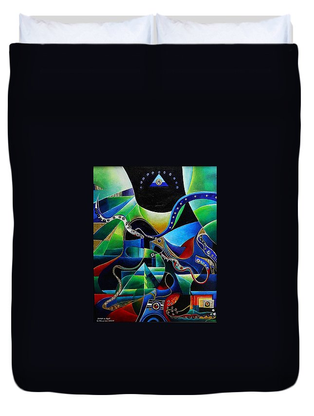 Joseph Duvet Cover featuring the painting Joseph In Egypt by Wolfgang Schweizer