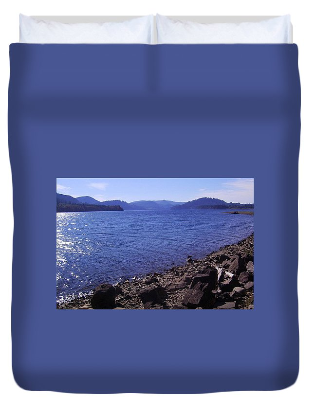 Bloom Duvet Cover featuring the photograph Lakes 2 by J D Owen