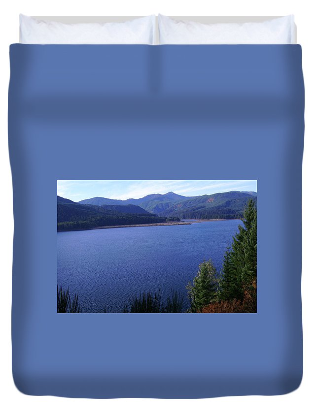 Bloom Duvet Cover featuring the photograph Lakes 4 by J D Owen