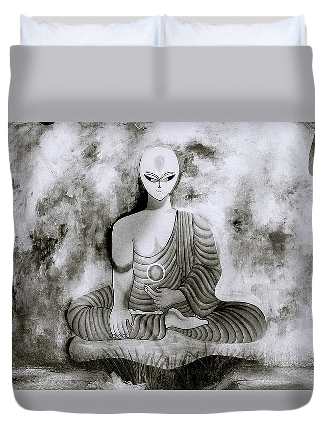 Buddhism Duvet Cover featuring the photograph Lotus Position by Shaun Higson