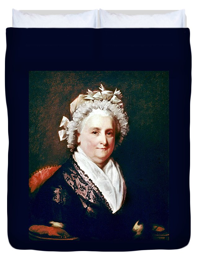 18th Century Duvet Cover featuring the painting Martha Washington (1731-1802) by Granger