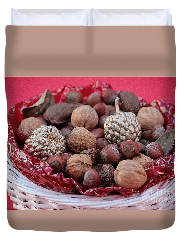 Mixed Nuts Duvet Cover featuring the photograph Mixed Holiday Nuts by Luv Photography