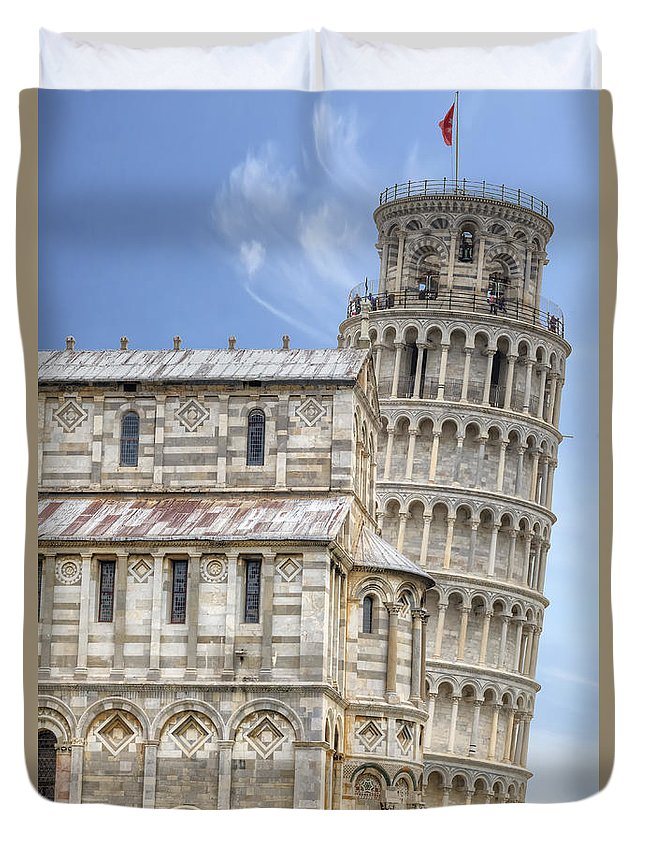 Pisa Duvet Cover featuring the photograph Pisa by Joana Kruse