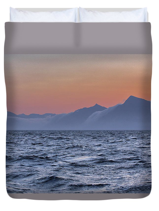 Scenics Duvet Cover featuring the photograph Ragged Coastline Of Faroe Islands by Sindre Ellingsen