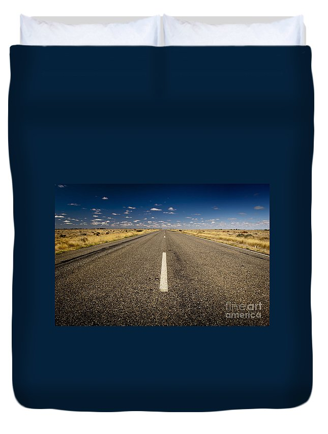 Ahead Duvet Cover featuring the photograph Road Ahead by Tim Hester