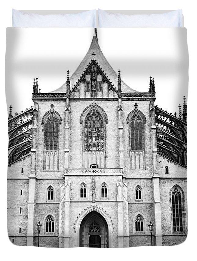 Kutna Hora Duvet Cover featuring the photograph Saint Barbara Church by Michal Boubin