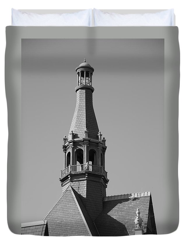 America Duvet Cover featuring the photograph Steeple by Frank Romeo
